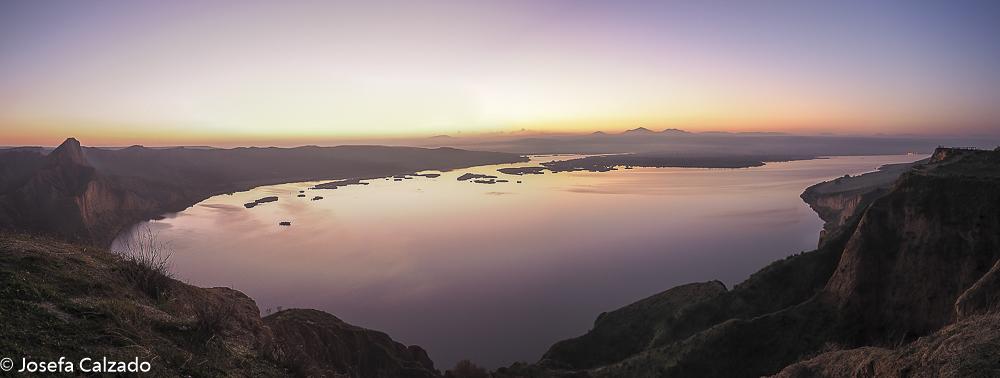 Vista panorámica al amanecer de Las Barrancas