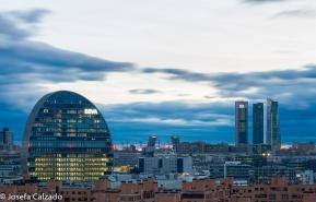 Detalle Edificio BBVA, Torres Kio y las 4 Torres