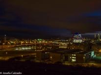 Panorámica nocturna desde la Torre de los Domínicos hasta las 4 Torres