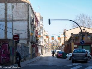 Banderas que cubren toda la ciudad