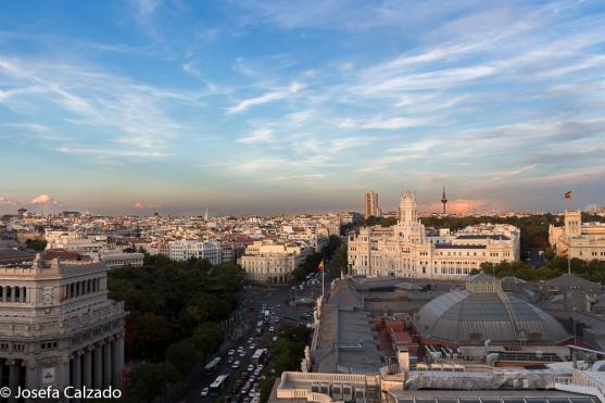 Vista Panorámica calle Alcalá, Ayuntamiento de Madrid