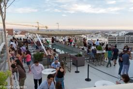 Gran ambiente en la terraza de la azotea del CBA