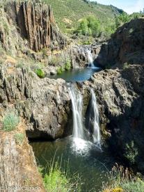 Vista general de las cascadas del Aljibe
