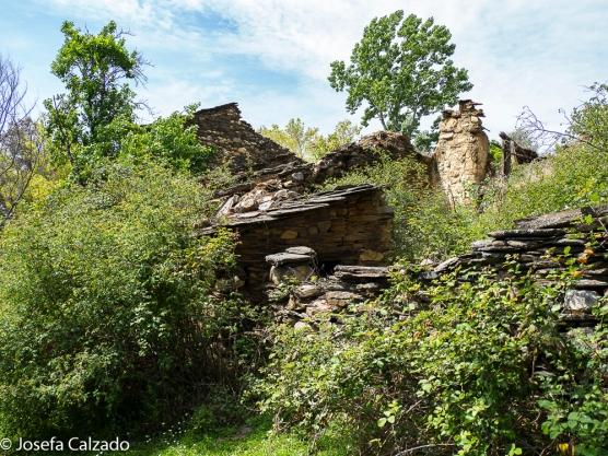 Detalle del antiguo poblado de Matallana