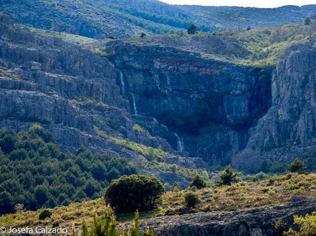 Vista del desfiladero de Las Chorreras