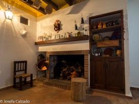 Antigua cocina y hogar