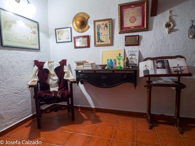 Detalle de la sala-museo dedicado a D. Miguel de Cervantes y a Don Quijote