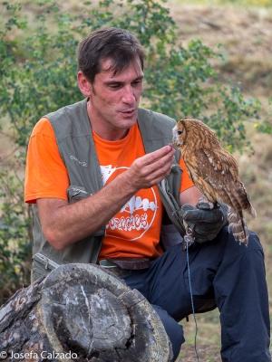 Con su cuidador Juanfer Reboto