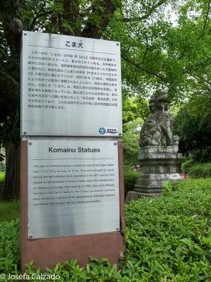 Leyenda Komainu Statues