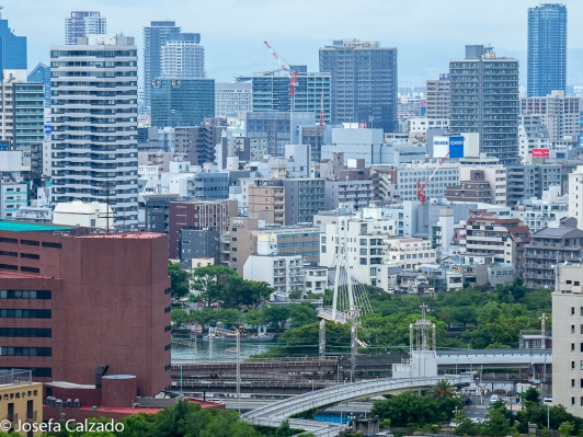 Vista desde el mirador del Castillo de Osaka