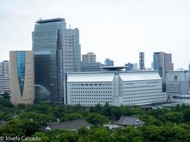 Detalle vista desde el mirador del Castillo de Osaka