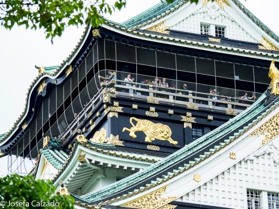 Detalle del mirador del Castillo de Osaka
