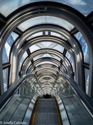 Interior de una de las escaleras panorámicas