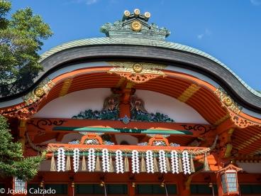 Detalle decoración del santuario principal Go Honden