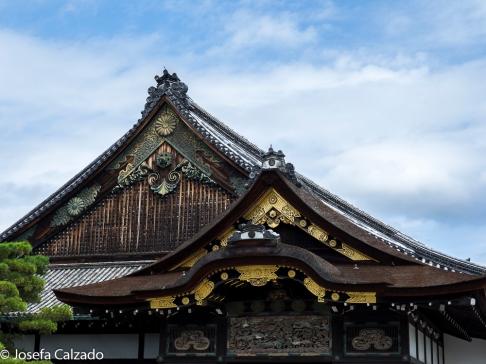 Detalle tejados palacio de Ninomaru-goten