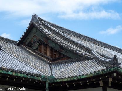 Detalle tejado Palacio Honmaru-goten
