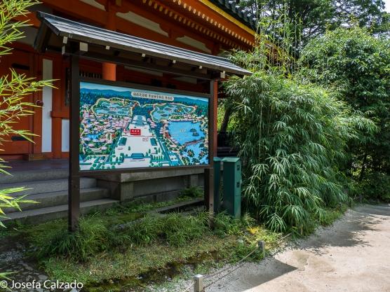 Detalle mapa de los Jardines Heian