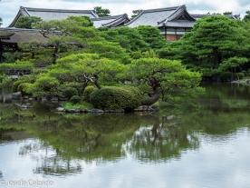Detalle jardín Heian con Shobikan al fondo