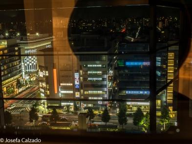 Vista nocturna desde el Hotel Gran Vía