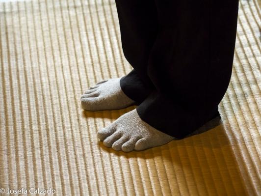 Detalle de calcetines-tabi