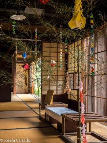 Recibidor de la casa samuraia