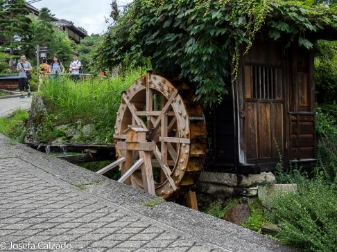 Viejo Molino de agua en Tsumago