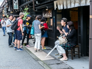 Típico puesto de venta de Oyaki