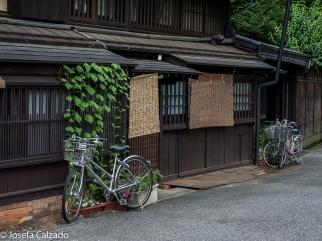 Típica casa de madera de Takayama