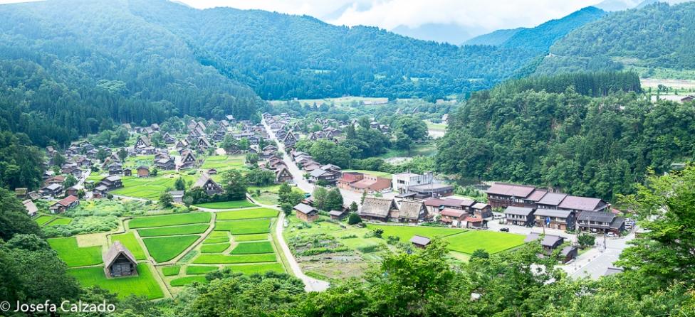 Panorámica de Ogimachi desde el mirador de Shiroyama