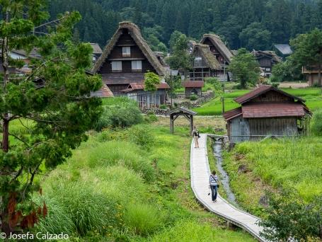 Vista desde una de las ventanas de la casa Wada (Wada-ke)