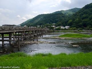 Puente Togetsukyo sobre el río Hozu