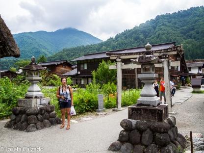 Puerta de entrada en Ogimachi