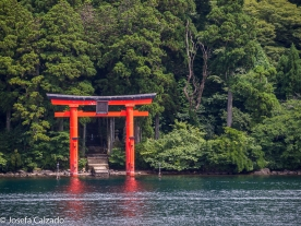 Torii entrada al Santuario de Hakone
