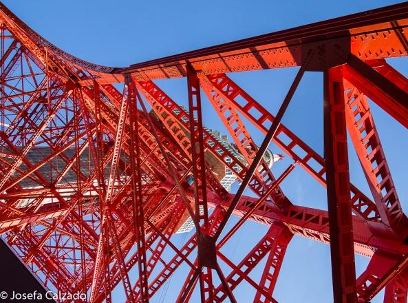 Vista desde la base de la Torre de Tokio