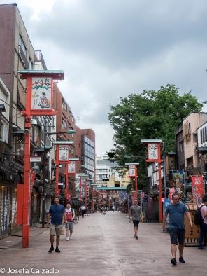 Detalle de una de las calles laterales de Nakamise