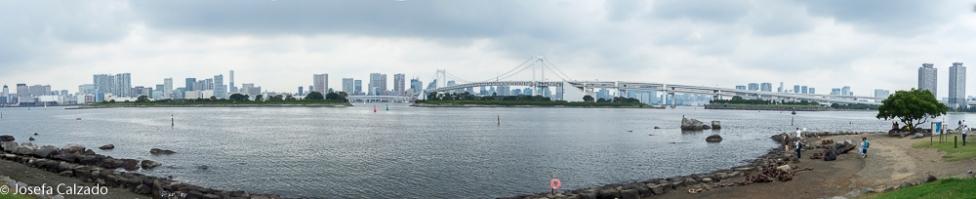 Panorámica de 7 fotos de la Bahía de Tokio