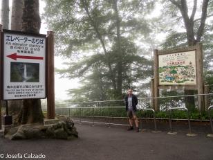 Area de descanso y mirador de la cascada de Kagon