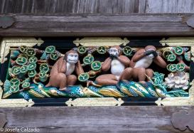 Tres monos sabios y segunda escena