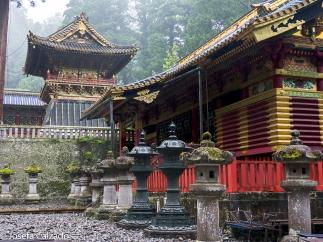 Detalle establo sagrado y al fondo torre del tambor