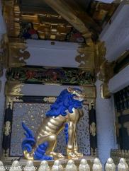 Shishi aka Jishi, deidad del perro león, guardián de la puerta de Yomeimon