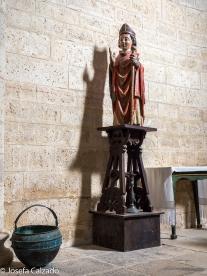 Talla de San Martín del siglo XV