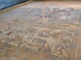 Detalle del mosaico Oecus