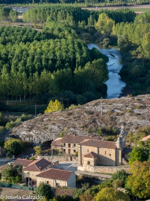 Detalle río Pisuerga e iglesia de San Juan Bautista