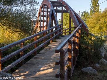 Detalle puente sobre el río Pisuerga