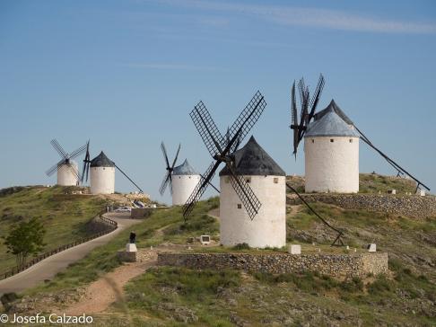 Vista de los molinos de viento