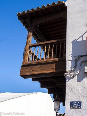 Detalle balcón de la plaza de España