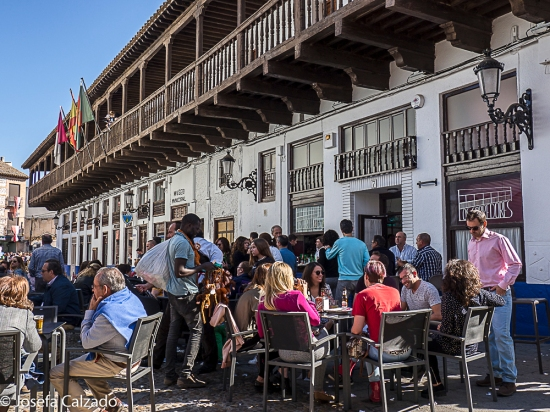 Ambiente en la Plaza de España