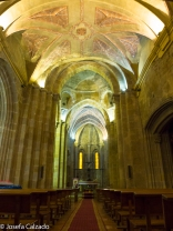Interior y al fondo el Cristo del Olvido
