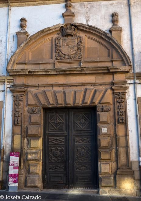 Entrada del Palacio del Marqués de Alcantará