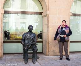 Estátua en bronce de Antonio Machado